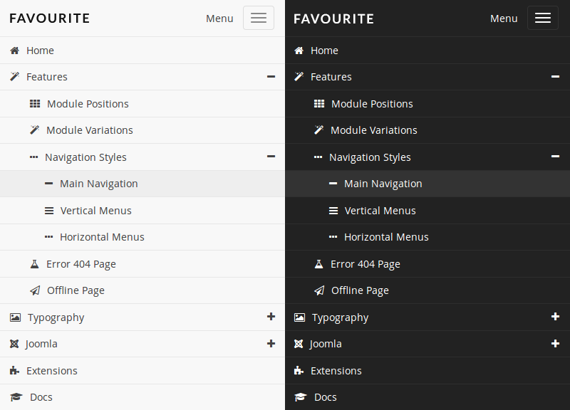 FavThemes tutorial for the main navigation mobile menu
