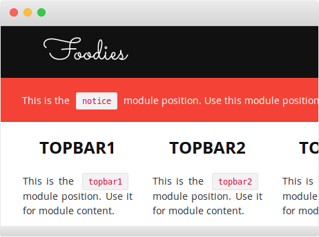 FavThemes use the module positions and variations