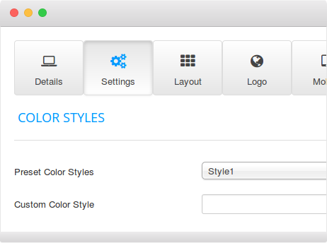 FavThemes template settings