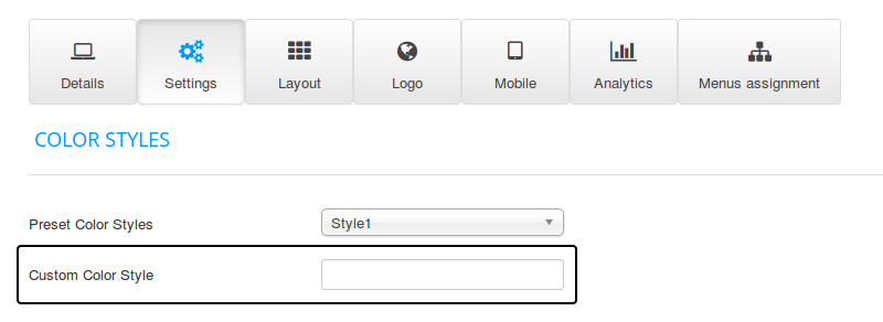 FavThemes tutorial for module variations using the template settings